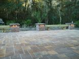 PEL paver patio with unique seating